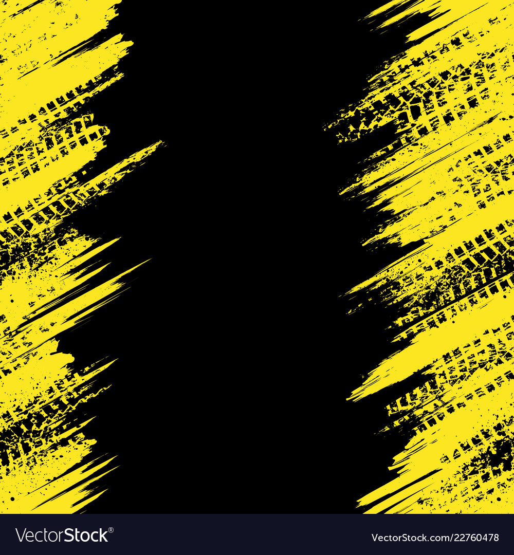 Yellow Tire Track Wallpaper