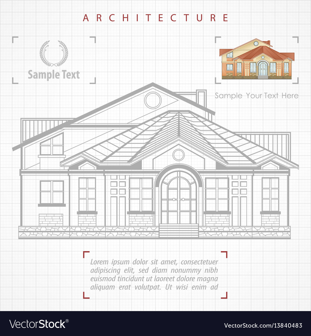 Architectural plan of building royalty free vector image architectural plan of building vector image ccuart Gallery
