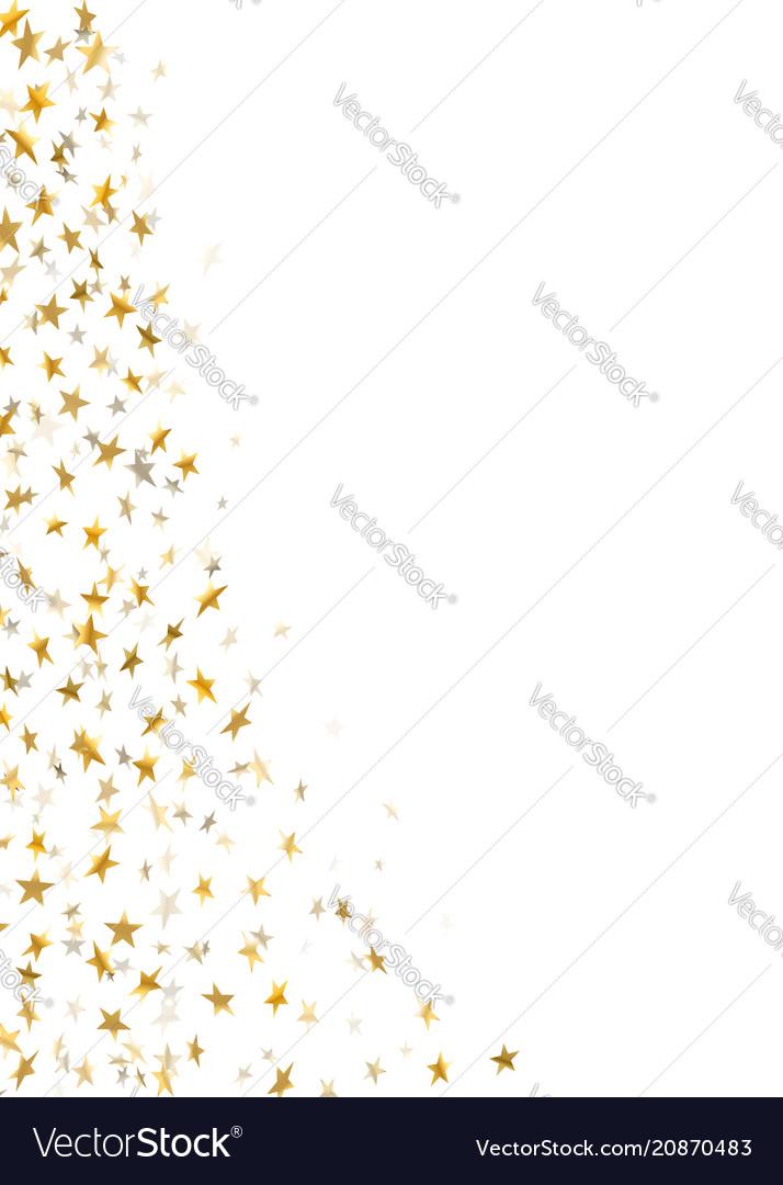 Gold star confetti celebration isolated on white