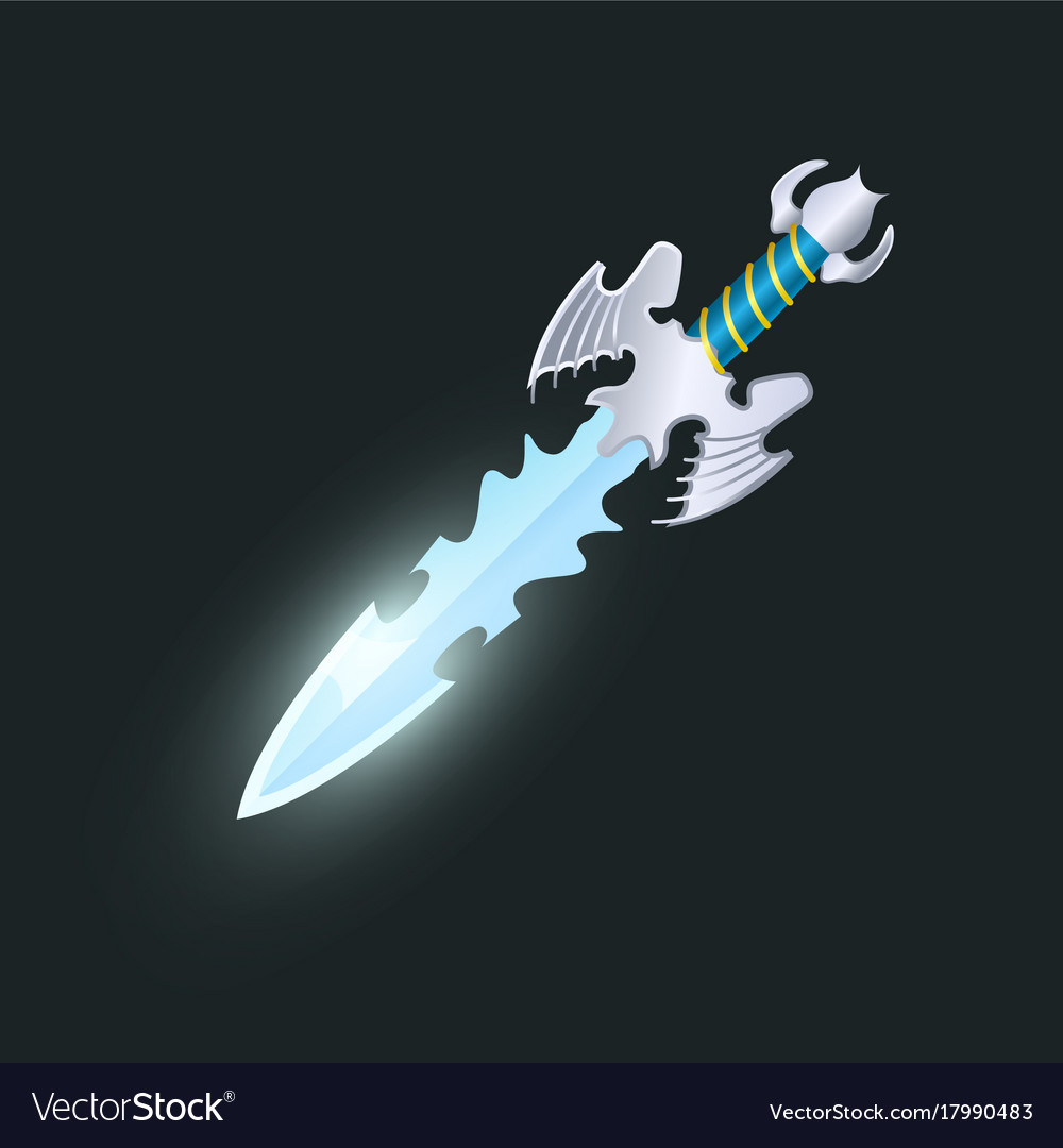 Magic weapon isolated game element