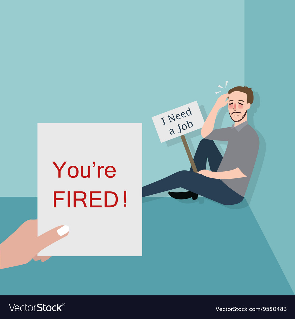 Man fired looking for a job