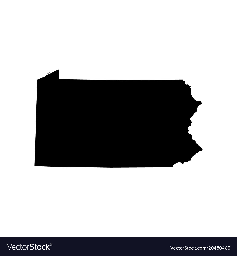 Map of the us state of pennsylvania