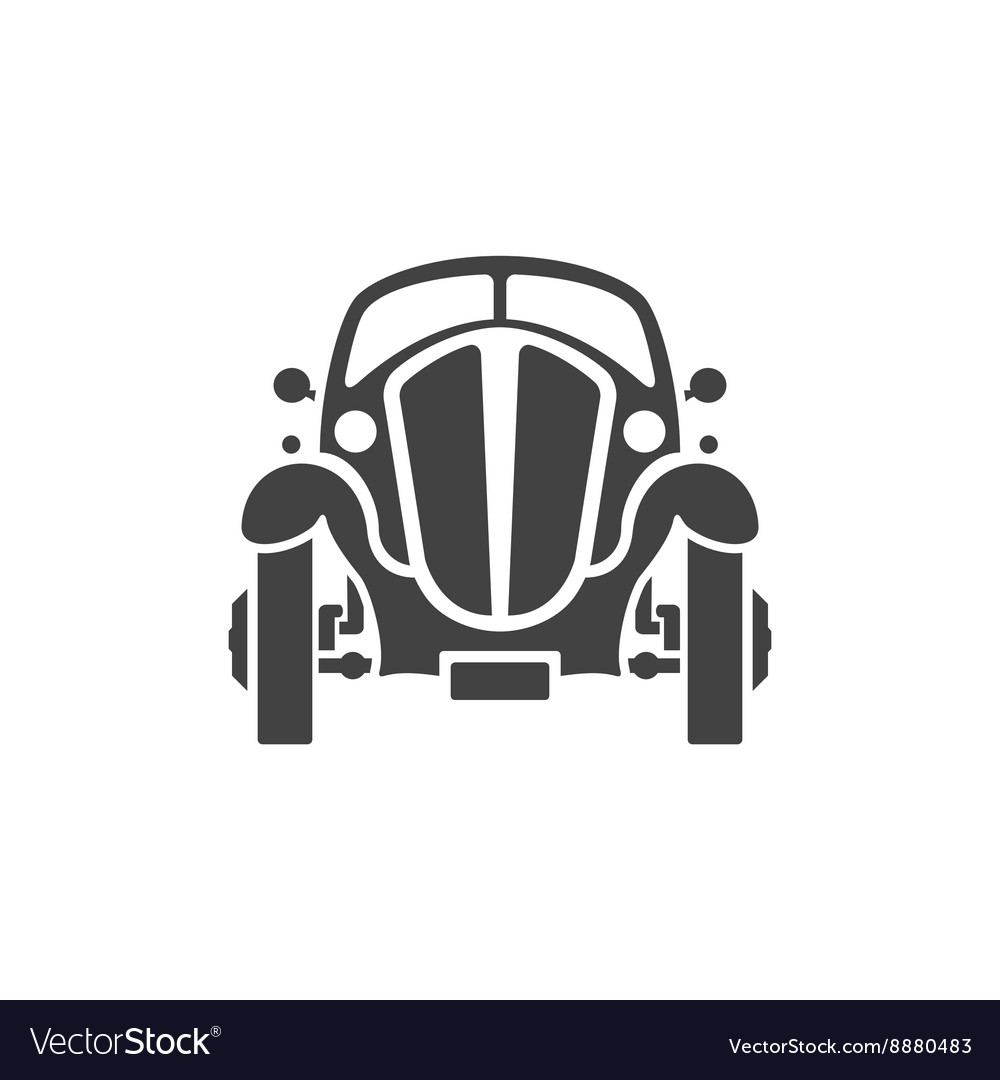 Old Car Isolated on white background icon