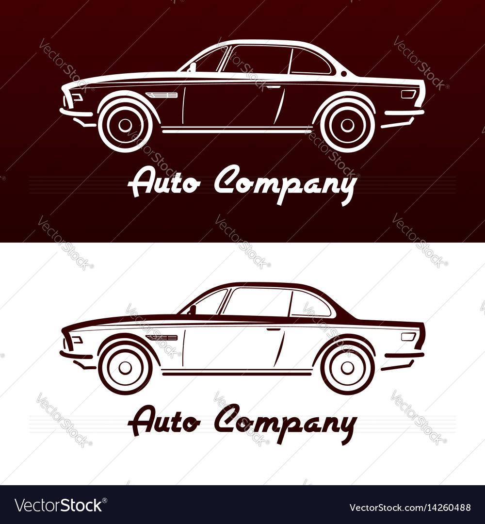 Abstract retro car design