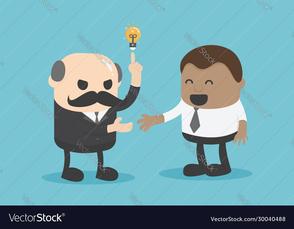 Chief businessman is proposing idea