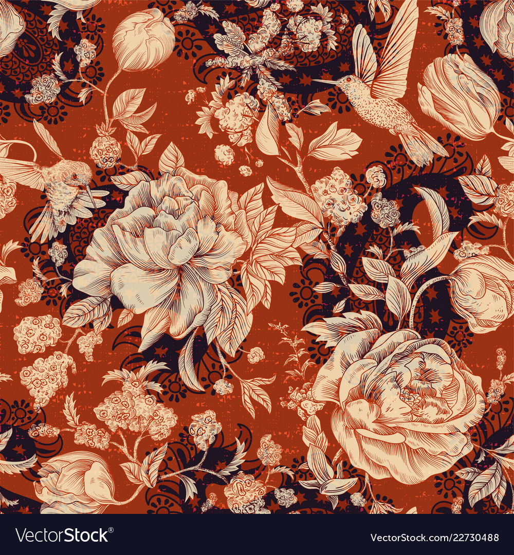 Colorful seamless floral pattern flowers