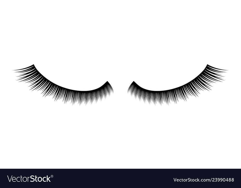 9b18fbf2821 Creative of false eyelashes Royalty Free Vector Image