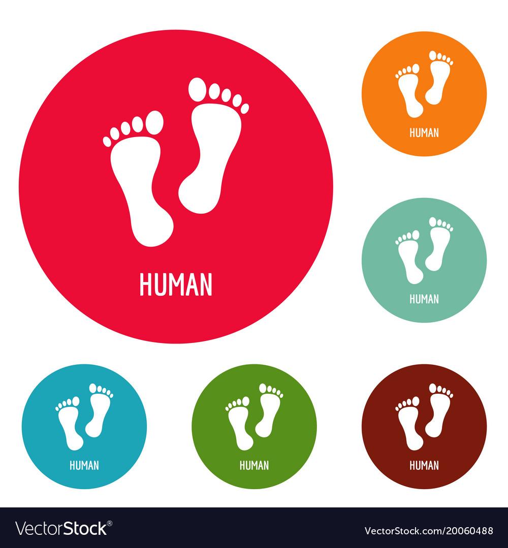 Human step icons circle set