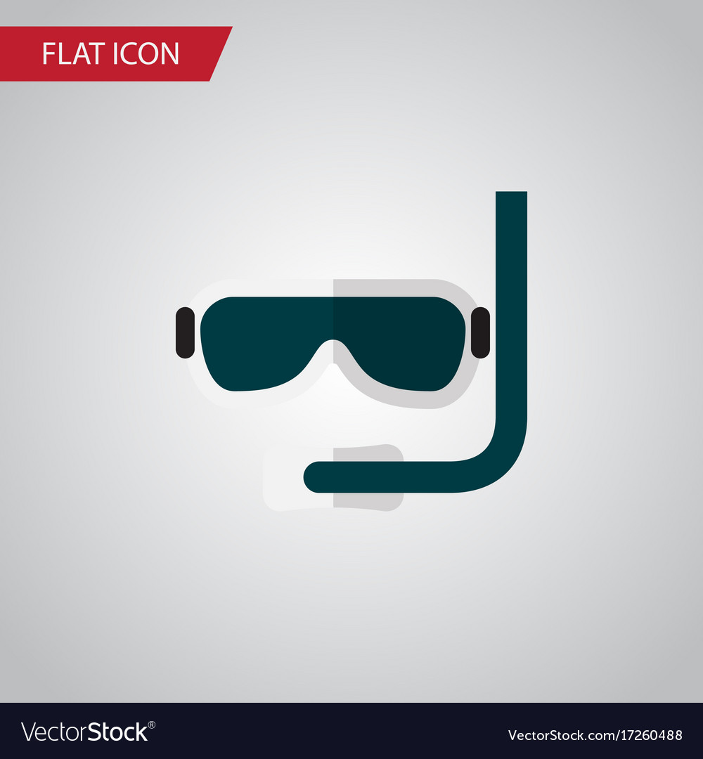 Isolated aqualung flat icon scuba diving