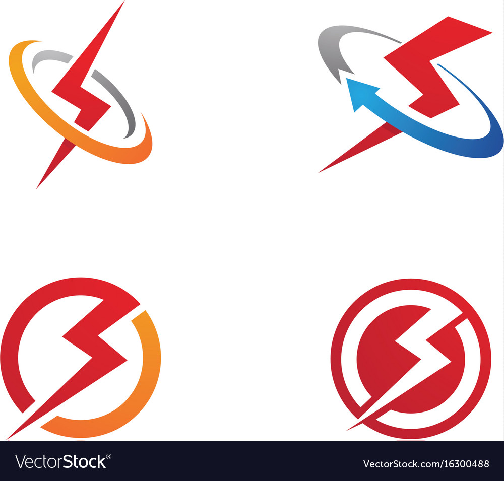 lightning logo template icon design royalty free vector