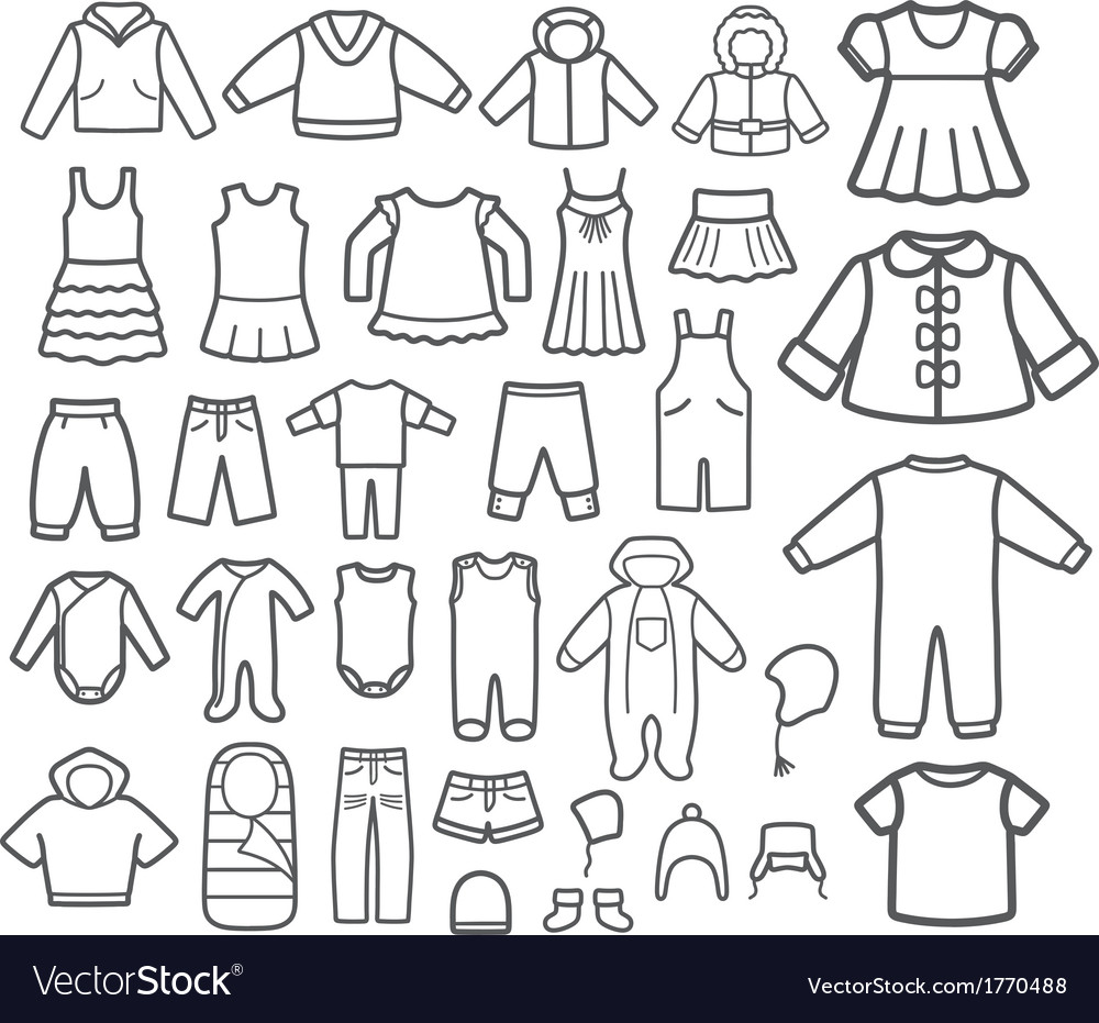 Set of Children clothing vector image