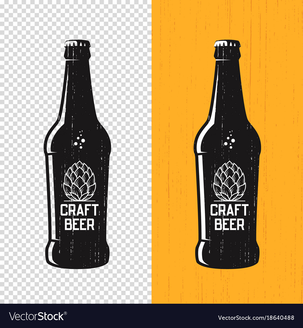 Textured craft beer bottle label design