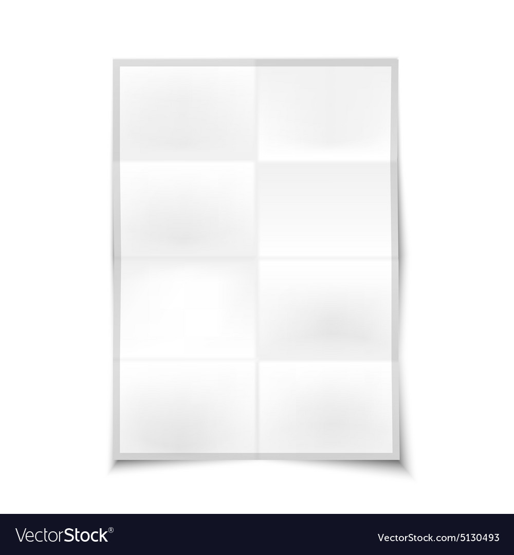 Blank realistic folded poster with place for your