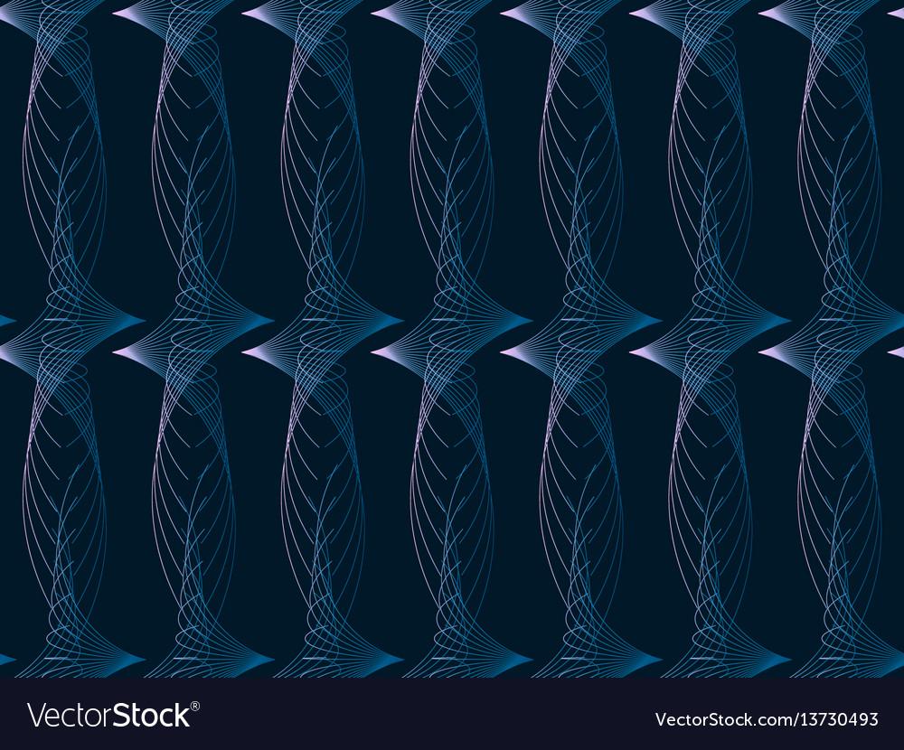 Modern seamless pattern with swirls dark