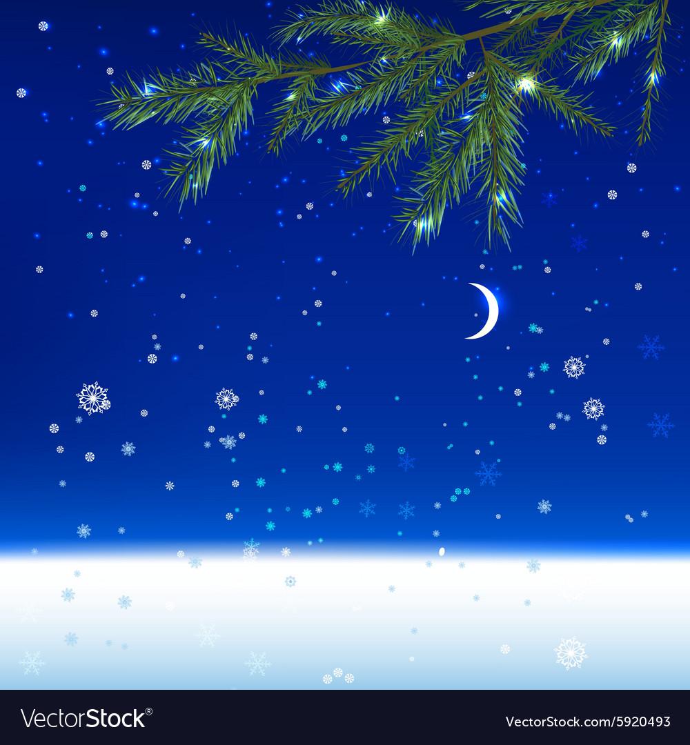 Snow night landscape