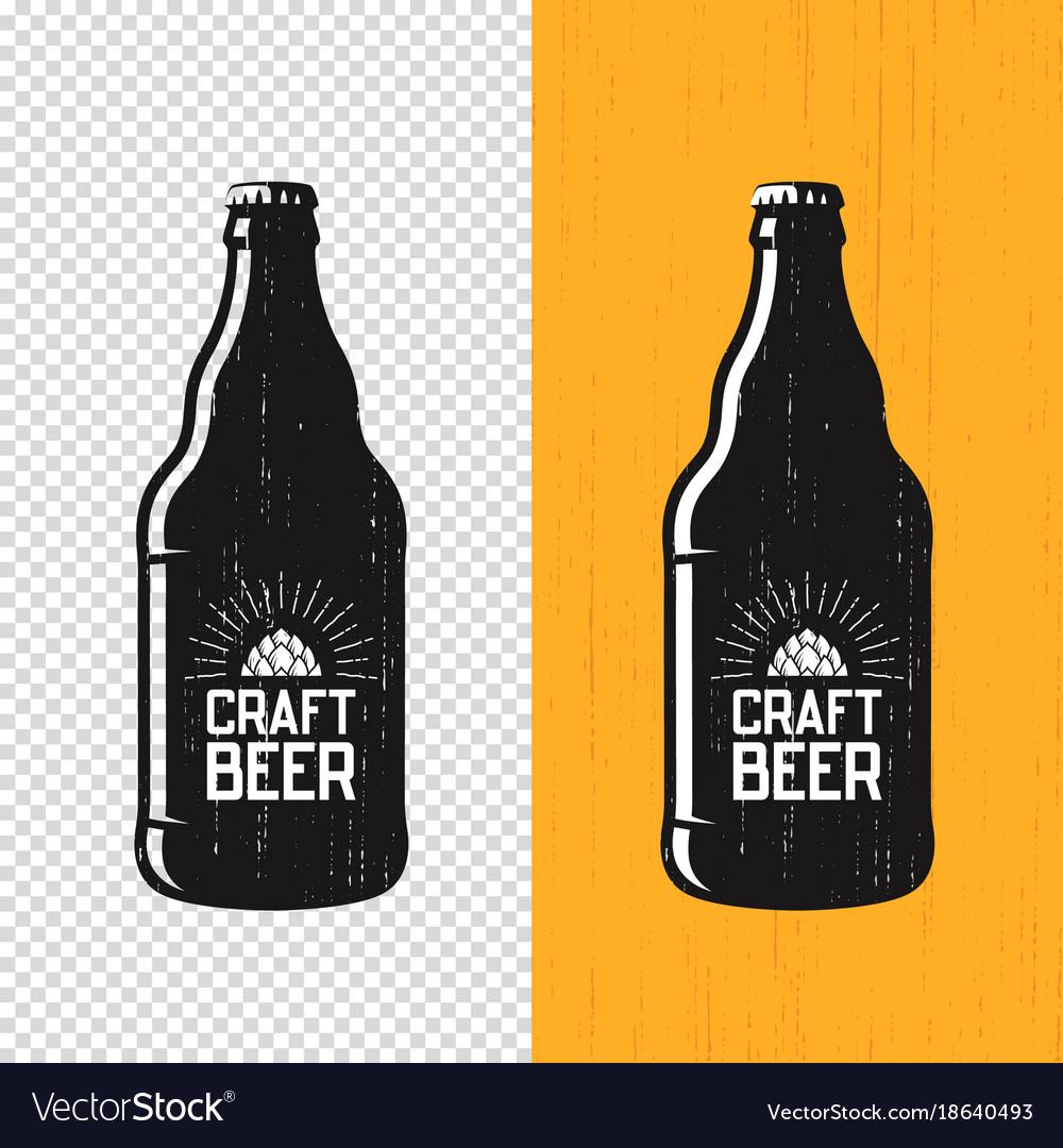 Textured Craft Beer Bottle Label Design Royalty Free Vector