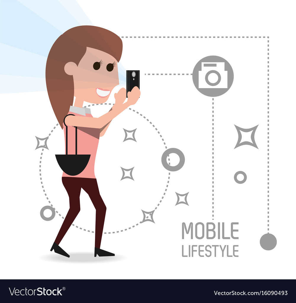Woman with smartphone in the hand and