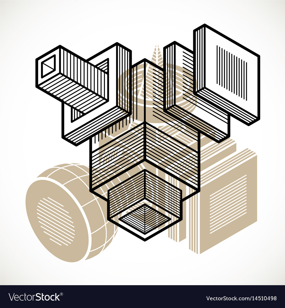 Abstract trigonometric construction dimensional vector image on VectorStock