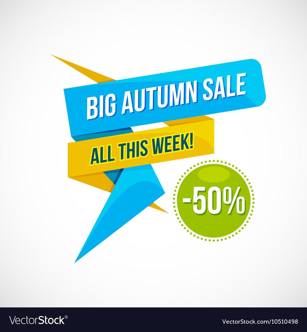 Autumn Sale Discount Logo or Emblem
