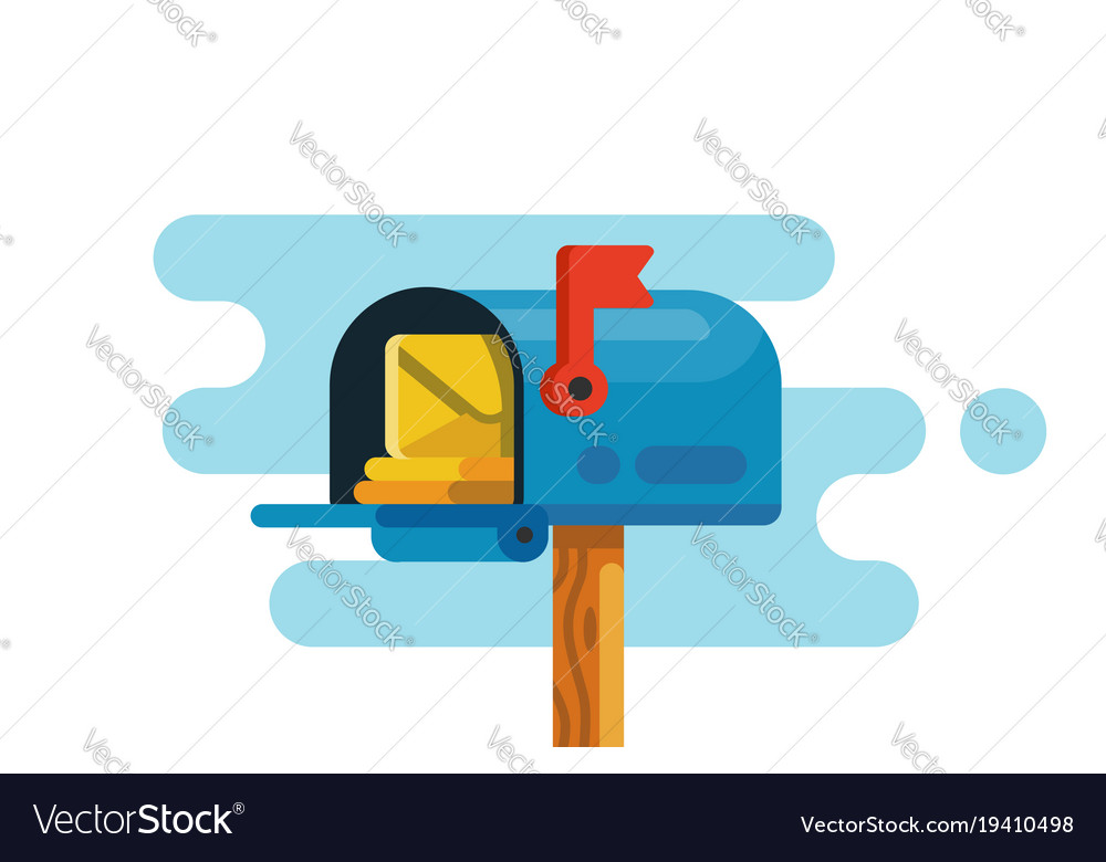 Open mail box with mails