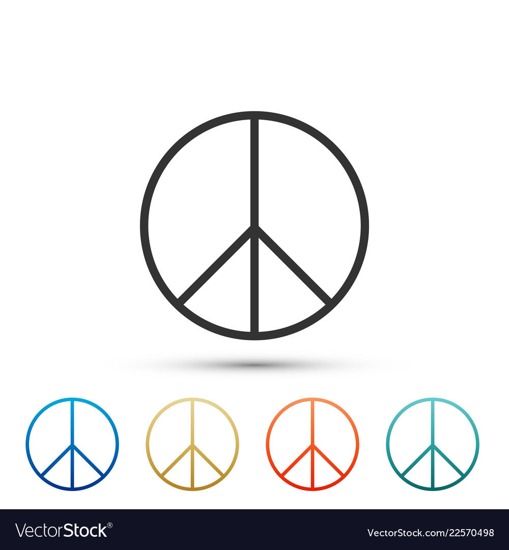 Peace sign icon isolated on white background