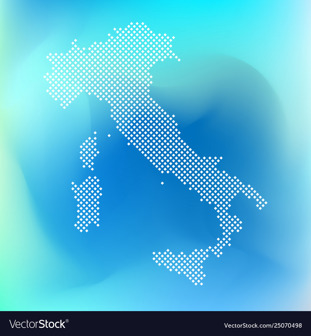 Pixel map italy dotted map italy