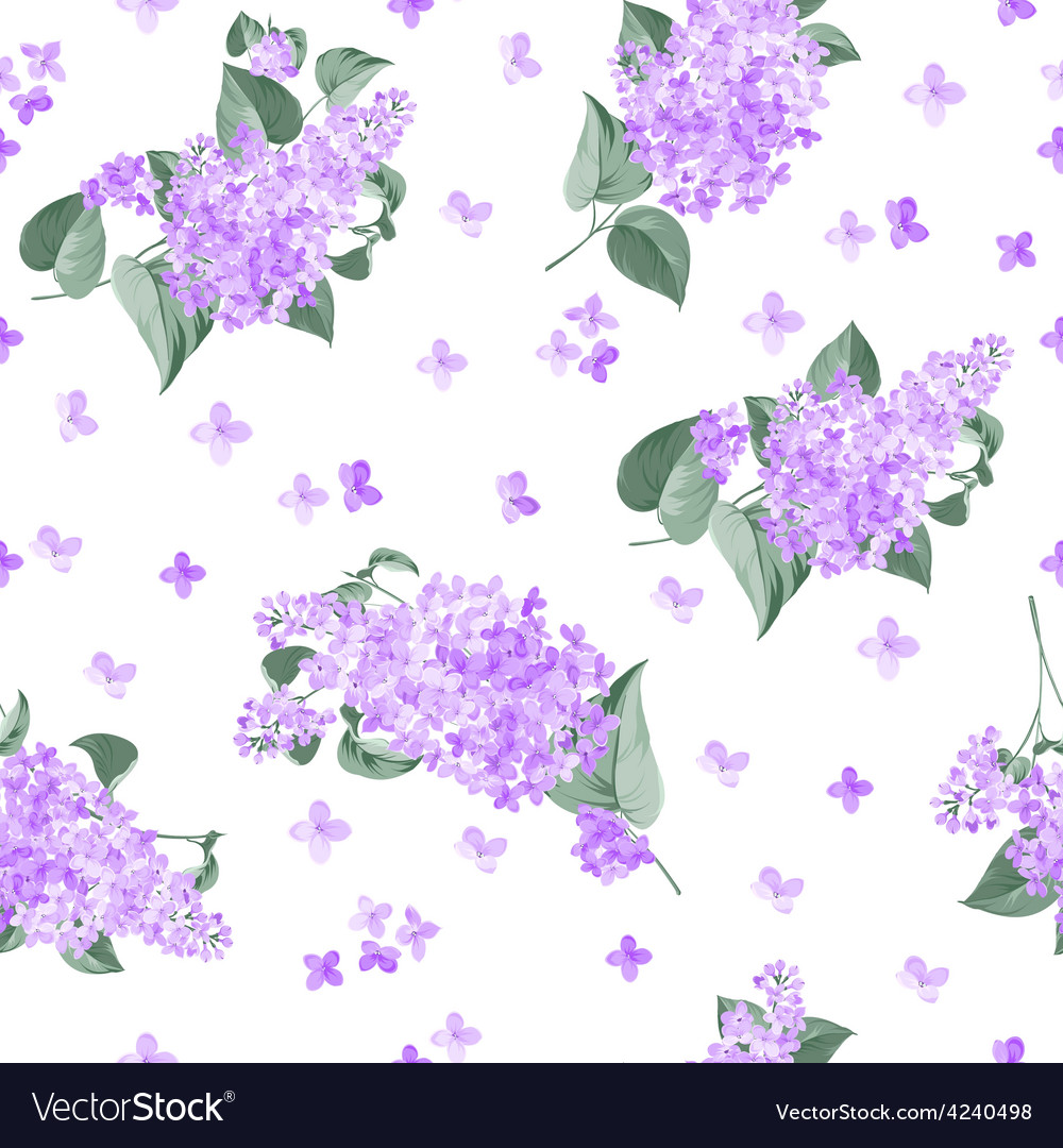 Seamless lilac pattern vector image