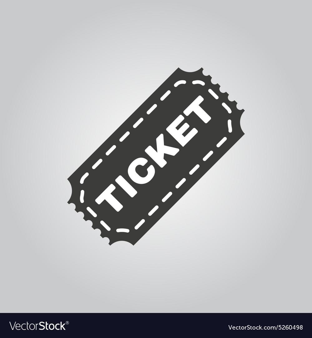 The ticket icon Ticket symbol Flat vector image