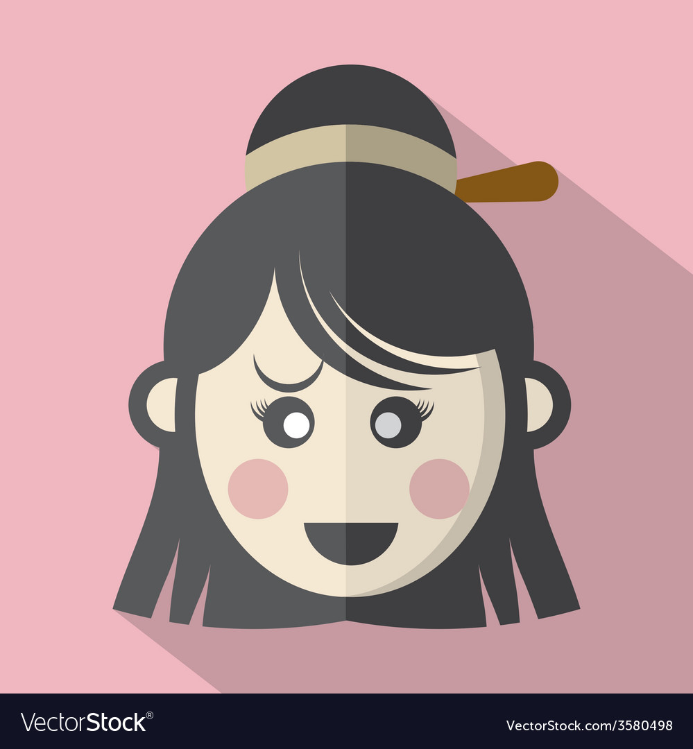 Traditional Chinese Womans Face Icon