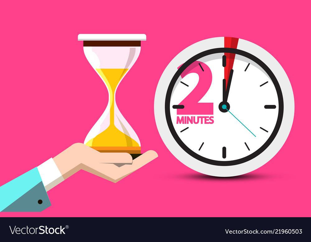 2 minutes hourglass time symbol 2 minute counter