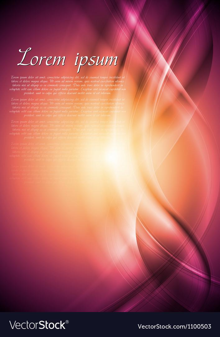 Abstract wavy design vector image