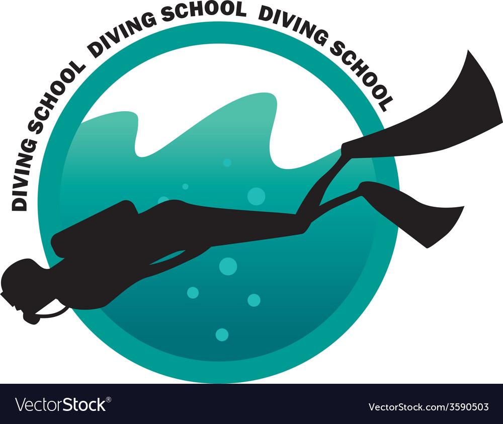Diving school logo