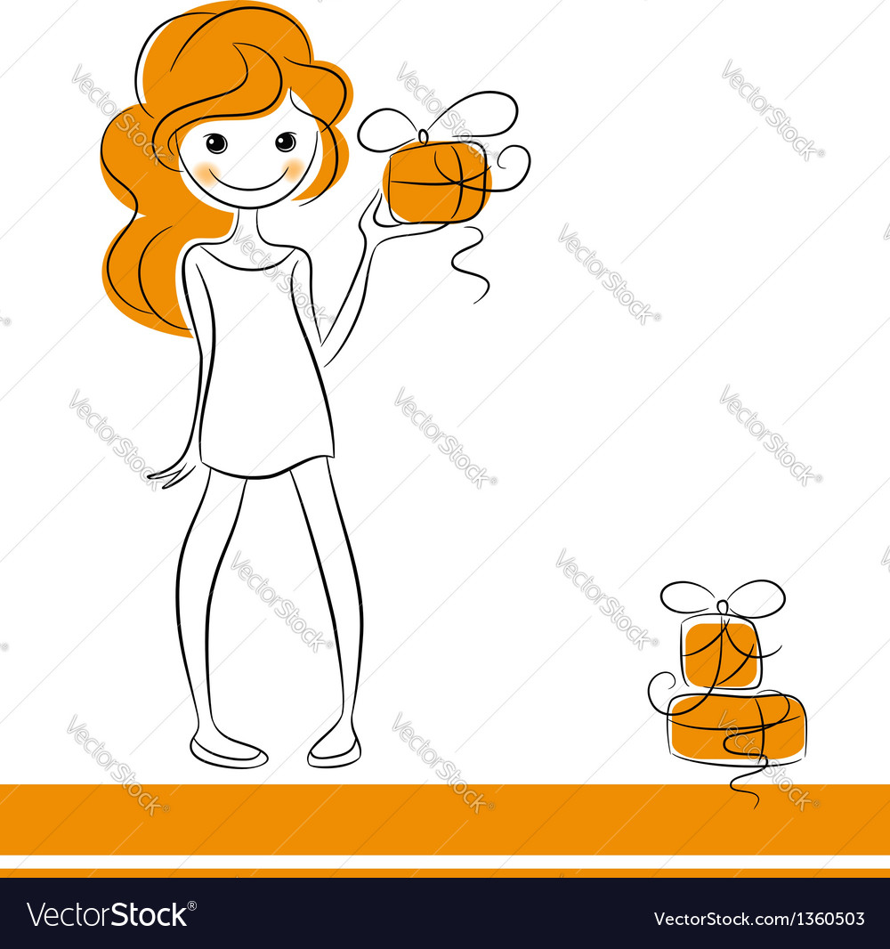 Fashion girl with gifts