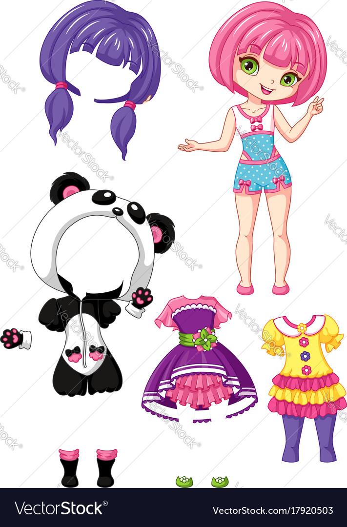 Girl chibi vector image