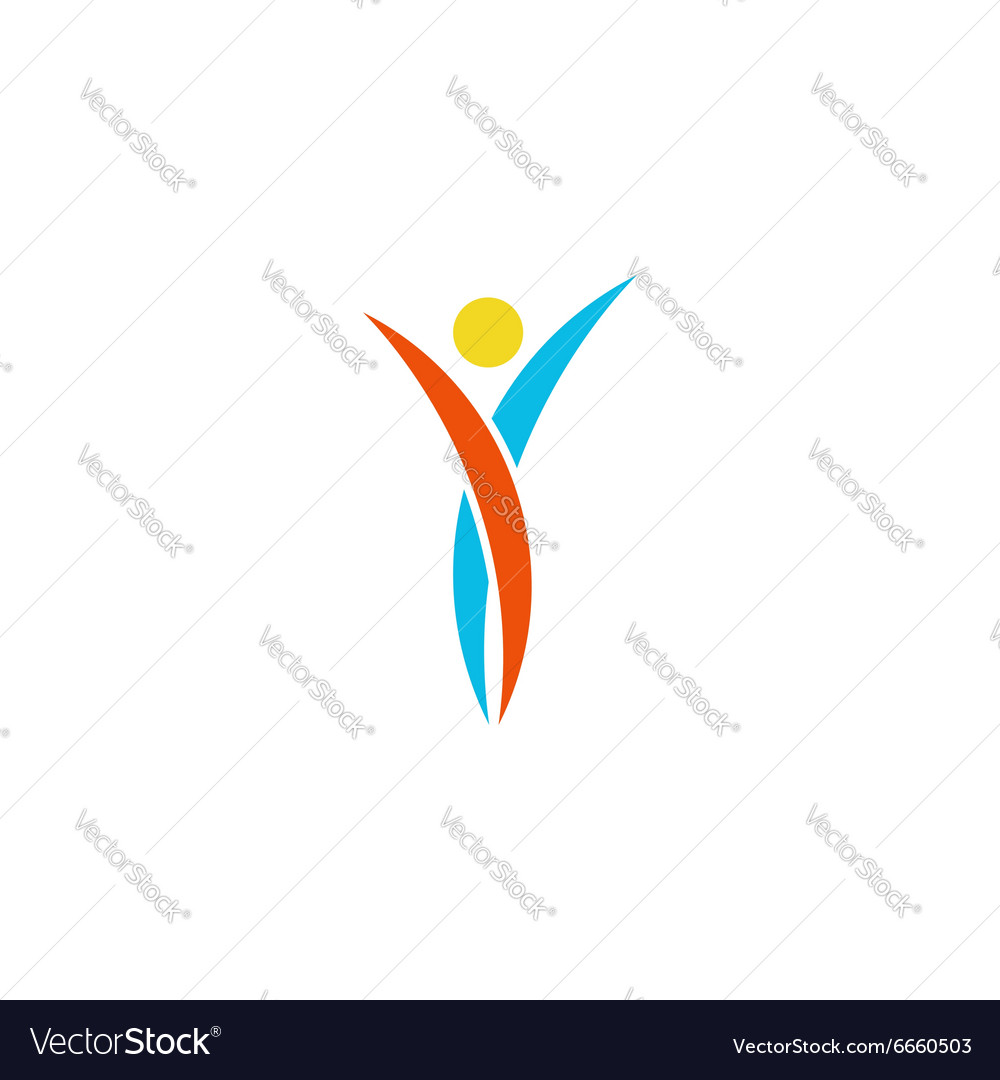 Human logo abstract dance body fitness sport man vector image