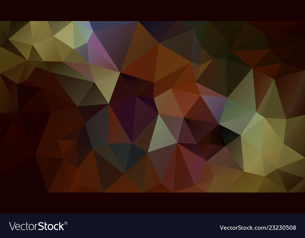 Abstract irregular polygonal background brown