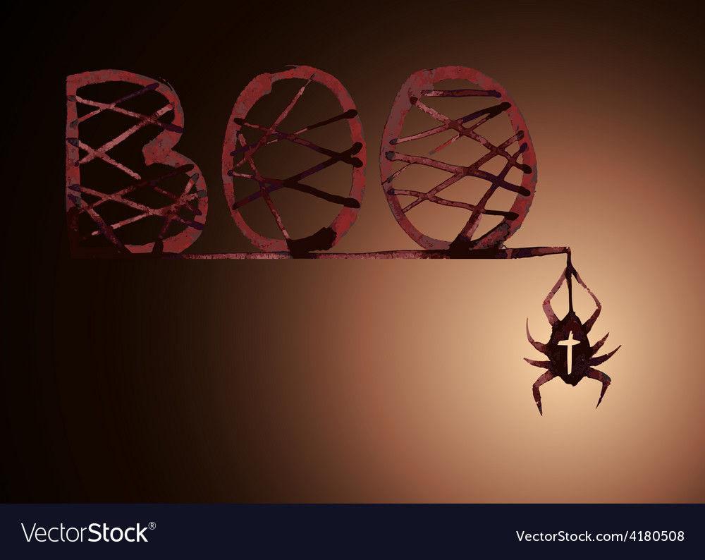 Boo spider vector image