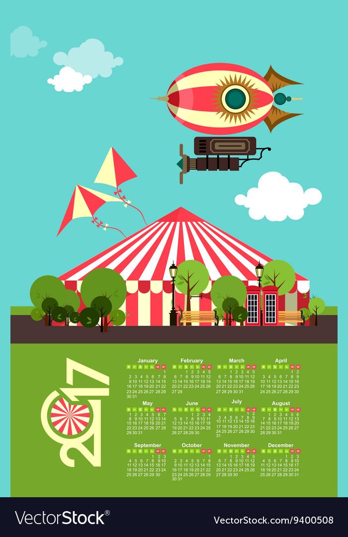 Calendar 2017 Carnival
