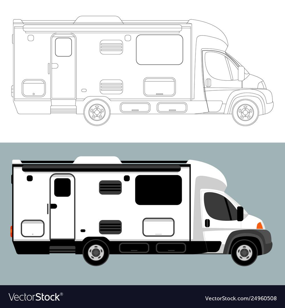 Camping car lining draw