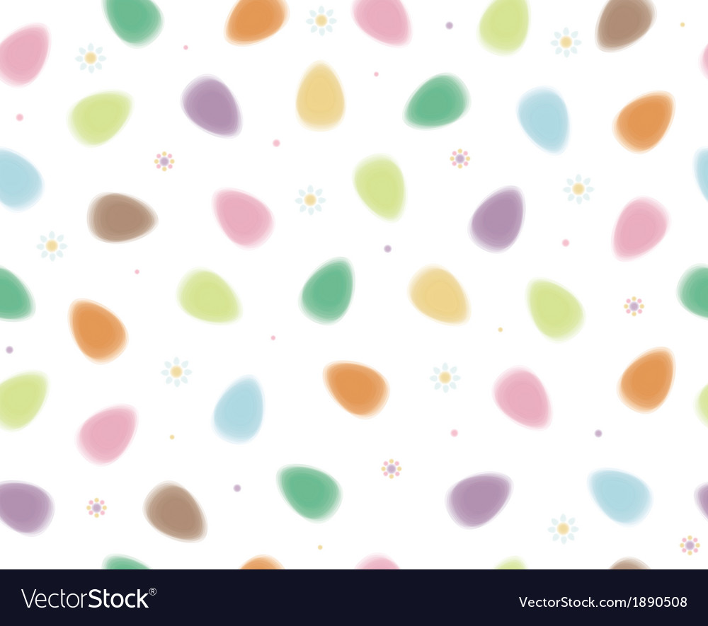 Eggs colorful pattern vector image