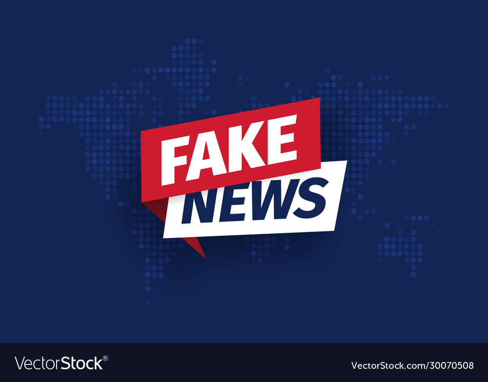 Fake news isolated icon sign main news