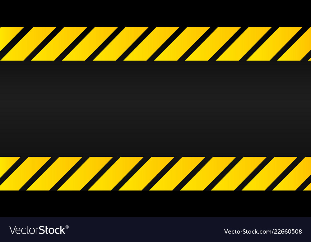 Industrial yellow lines on a black background