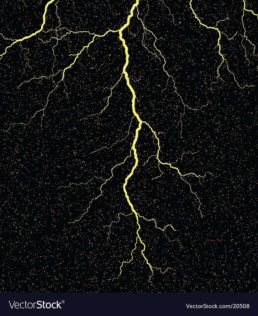 Lightning strike vector image