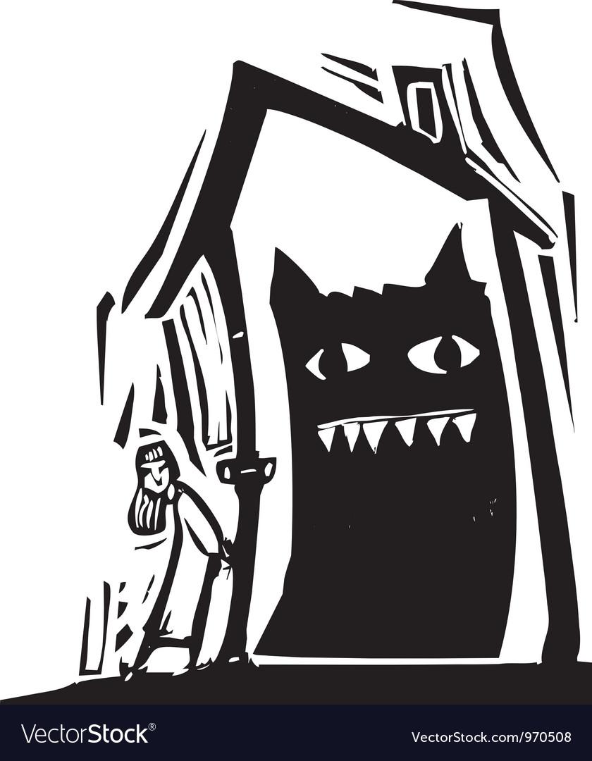 Monster House vector image