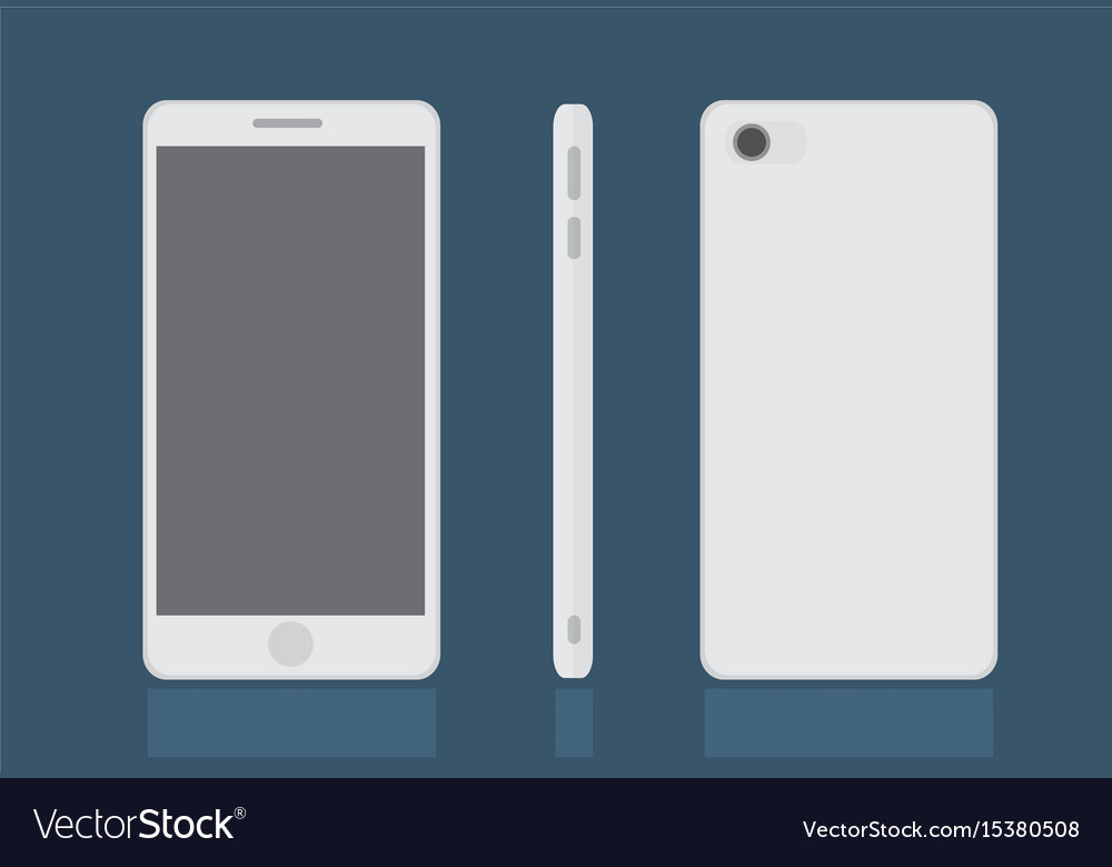 Realistic modern smart phone set mock up
