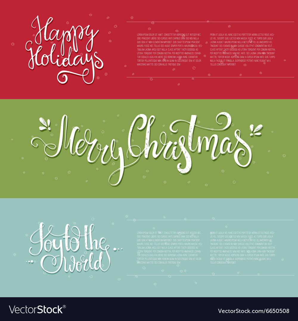 Xmas Lettering vector image