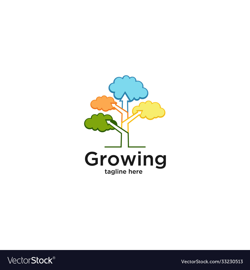 Growing-tree-diagram-logo-template