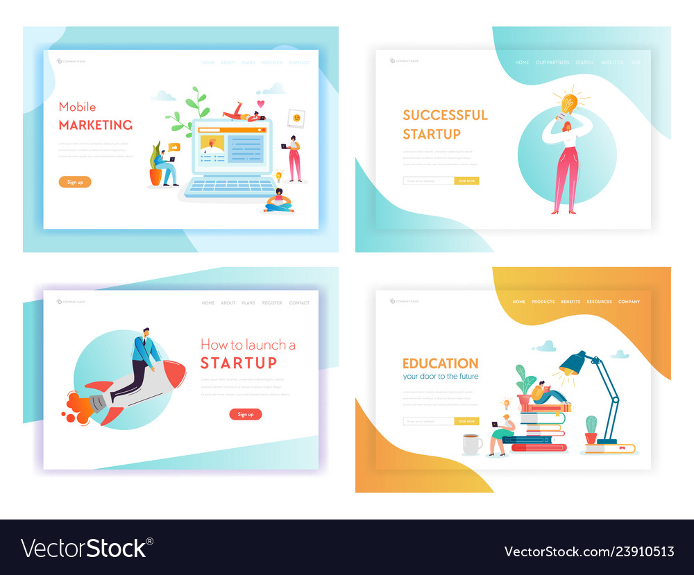 Idea business innovations concept landing page