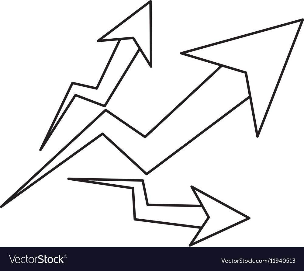 Isolated increase arrow design vector image