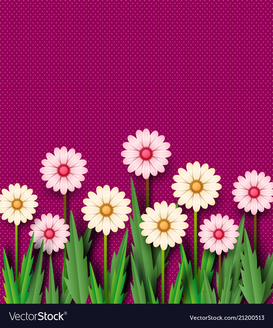 Paper cut the spring flowers of chamomile on a vector image mightylinksfo